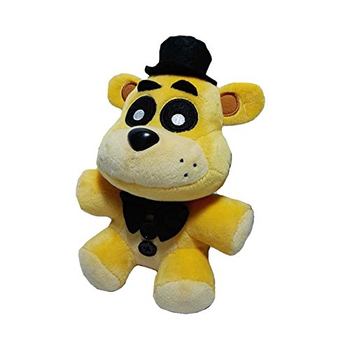 Soft and Beautiful New Golden Freddy Bear Stuffed Animal Plush Toy Doll (Nightmare Fredbear Costume)