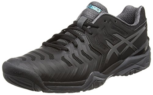 Asics Gel-Resolution 7, Scarpe da Tennis Uomo Nero (Black / Dark Grey / Lapis)