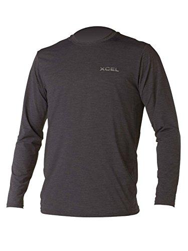 Xcel Men's Heathered Ventx Long Sleeve Top, Heather Black, XX-Large
