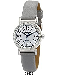 Faux Leather Strap with Silver Case White Dial