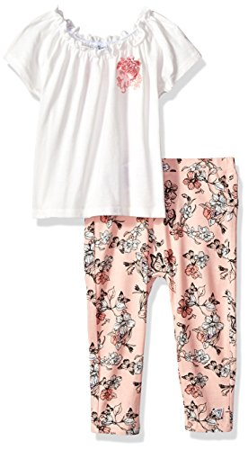 Guess Baby Clothes - GUESS Baby Girls' T-Shirt + Legging Set, True White a, 12M