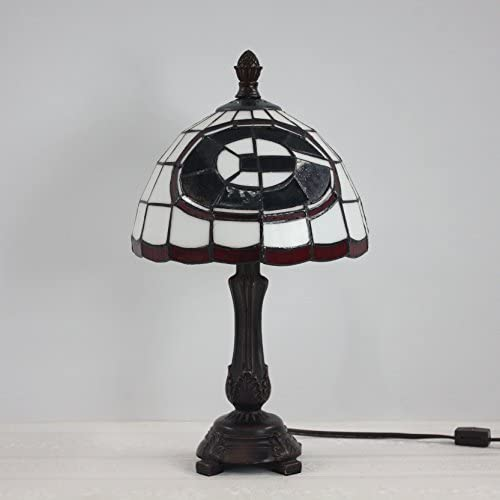 9-inch NFL Green Bay Packers Stained Glass Table Lamp