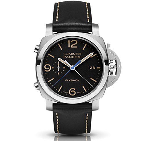 Panerai Men's PAM00524 Luminor Analog Display Swiss Automatic Black Watch