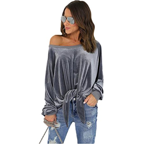 abd-womens-velvet-off-shoulder-front-tie-long-sleeve-loose-pullover-blouse-top