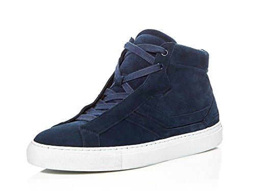 Uri Minkoff Men's Carlisle Suede High Top Sneakers, Dark Navy, 11 D(M) US ()