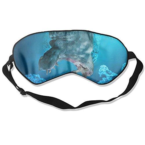Sleep Mask Hippo Prey Fishing Eye Cover Blackout Eye Masks,Soothing Puffy Eyes,Dark Circles,Stress,Breathable Blindfold by MB32
