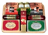 An Executive Treat Gourmet Cheese and Sausage Gift Set | Great Fathers Day Gift Idea (Cheese and Sausage)