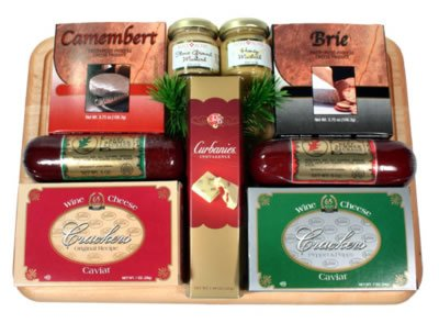 An Executive Treat Gourmet Cheese and Sausage Gift Set | Great Fathers Day Gift Idea Cheese and Sausage