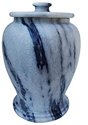 Urnporium Marble Serenitude Gray Marble Adult Funeral and Cemetery Cremation Urn