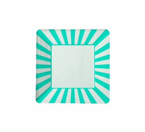 Retro Aqua Squares - 9
