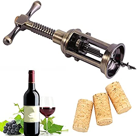 Abridor de vino Sacacorchos - Aleación de zinc Abridor de botellas de vino Sacacorchos de ala Quitacorchos para champán en bares de restaurantes