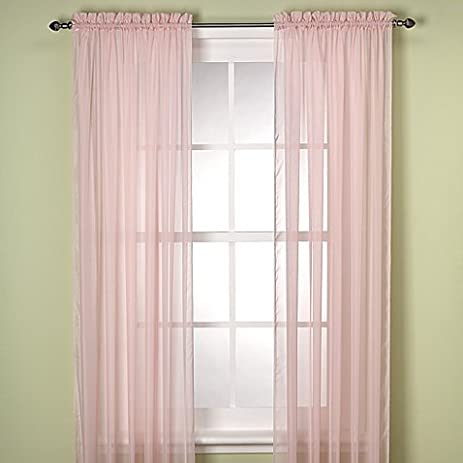 Superb Gorgeous Home Linen ( LIGHT PINK ) 1PC Voile Sheer Curtain Panel Rod Pocket  Drape /