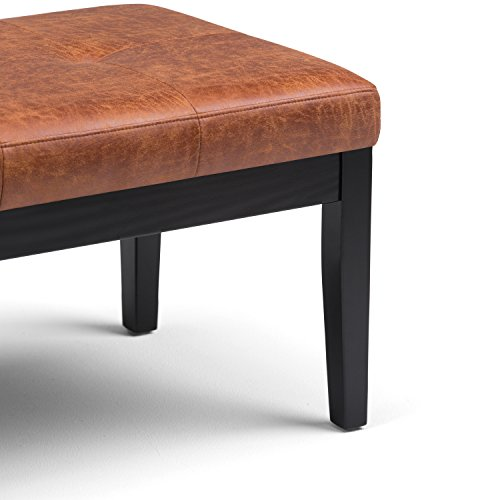Simpli Home Lacey Tufted Ottoman Bench, Distressed Saddle Brown by Simpli Home (Image #4)