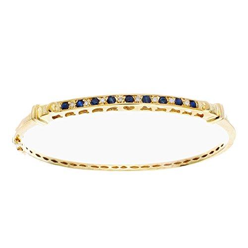 Diamond & Sapphire Bangle Bracelet - 6