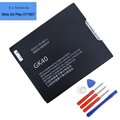 Li-Polymer New Replacement Battery GK40 SNN5967A Compatible with Motorola Cedric Moto E3, Moto E4, Moto G4 Play, Moto G5,XT1601 XT1603 XT1675 (GK40) ()