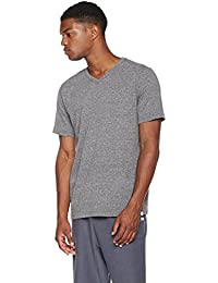 "<span class=""a-offscreen"">[Sponsored]</span>Young Men's Short Sleeve Cotton Blend V-Neck T-Shirt with Contrast Stitching"