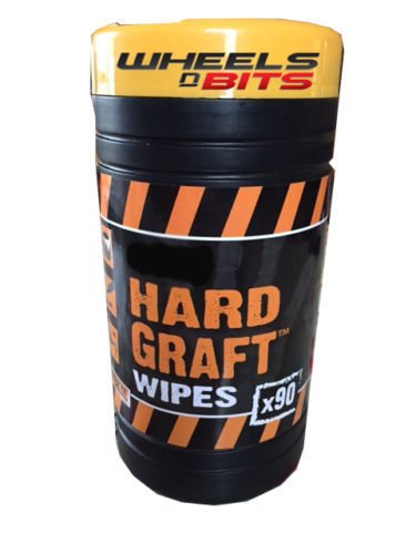 Wheels N Bits 90 LARGE WORK MAN WIPES IDEAL FOR REMOVING OIL GREASE GLUE PAINT FROM YOU HANDS