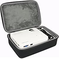 Hard Travel Case for DBPOWER T20 1500 Lumens LCD Mini Projector Multimedia Home Theater Video Projector by co2CREA