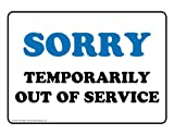 ComplianceSigns Aluminum Restroom Closed / Out of Order Sign, 10 x 7 in. with English Text, White