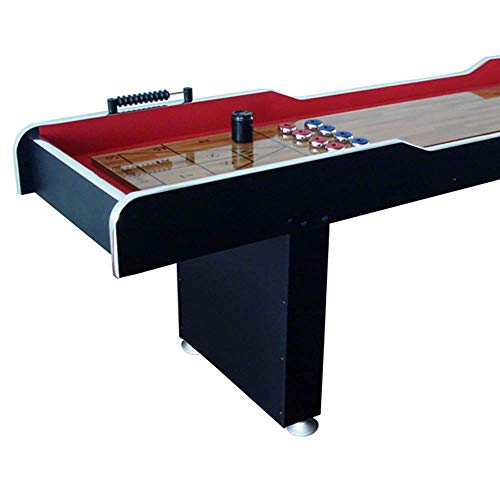 MD Sports 8' Poly-Coated Surface Home Gameroom Shuffleboard Table with Pucks