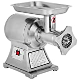 Happybuy 1 HP/750W Meat Grinder Stainless Steel 193/225 RPM Electric Meat Grinder Commercial