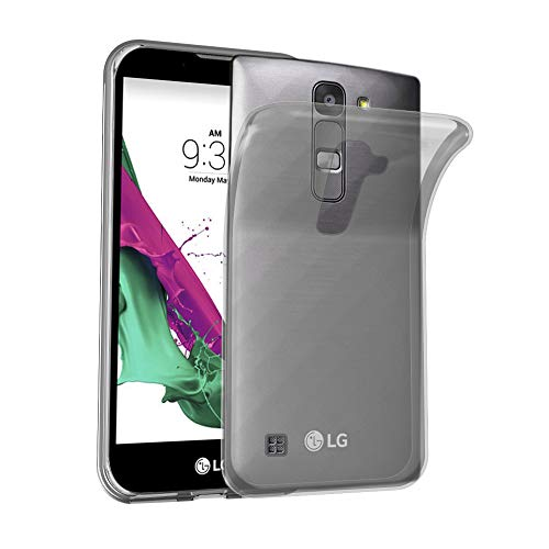 Cadorabo Case Works with LG Magna / G4 Mini/Magna in Transparent Black - Shockproof and Scratch Resistant TPU Silicone Cover - Ultra Slim Protective Gel Shell Bumper Back Skin
