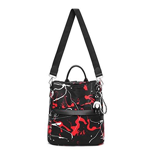 Backpack Occitop Girls Nylon Handbags Red Travel Printed School Street Shoulder Women qrBw4rZt