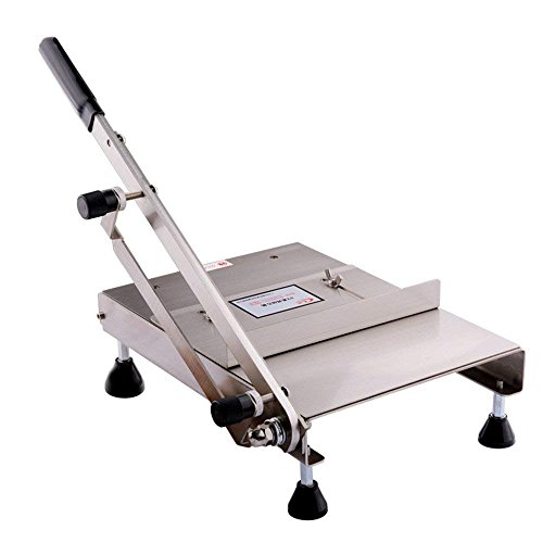 - Manual Chicken Duck Fish Cutter Nougat Bacon Slicing Machine Home Kitchen and Commercial Use Blade Length: 350mm