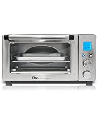 Elite Platinum ETO-1231 Maxi-Matic 6-Slice Programmable Countertop Convection Oven, Silver/Black