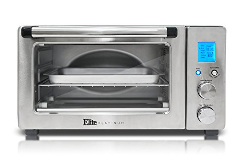 Elite Platinum ETO-1231 Maxi-Matic 6-Slice Programmable Countertop Convection Oven, Silver/Black