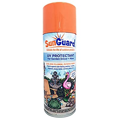 SUNGUARD UV Protectant Spray for Outdoor Decor, Furniture & More to Prevent Fading, Peeling and Cracking