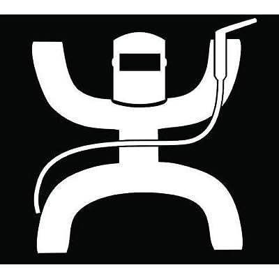 Hooey Welder Decal Vinyl Sticker|Cars Trucks Vans Walls Laptop| White |5.5 x 5.25 in|DUC028: Kitchen & Dining