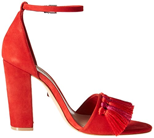 Schutz Summer Sandal Heeled Red Women's Detty grqTR8Pg