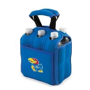 NCAA Six Pack Heavy Duty Cooler NCAA Team: Kansas, Color: Blue