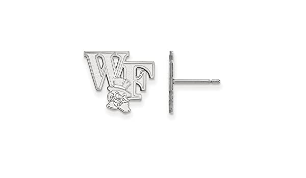 17mm x 19mm Solid 925 Sterling Silver Wake Forest University Small Pendant