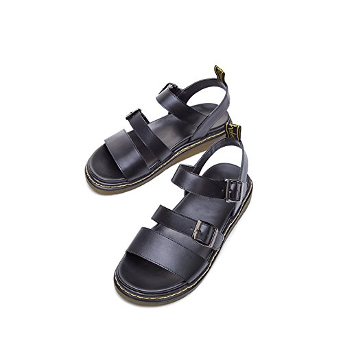 Kvinder Casual Sommer Hæle Dhg Flad Hvide Mode Sko Farve Solid Sandaler 38 Søde Lave Spids Høje Hæle gFwwnAq