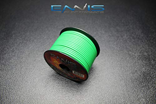 18 GAUGE WIRE BY ENNIS ELECTRONICS 100 FT GREEN SPOOL PRIMARY AWG COPPER CLAD
