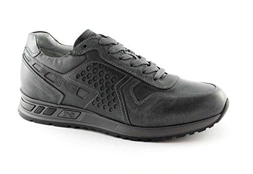 NEGRO JARDINES 4350 carbón cordones de zapatillas deportivas zapatos grises hombre Grigio