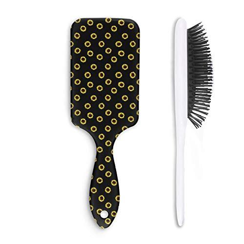 Cute Hair Brush I Love yellow Daisy Anti-static Unisex Fashion comfortable Straight hair Styling Woman Comb