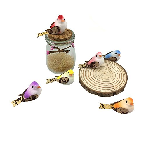 Artificial Small Fake Decorative Foam Birds for Crafts Garden, 24PCS by ZXSWEET