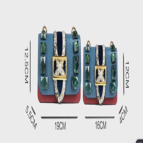 modello Small Muratura Tracolla Snake Rivetto Catena Borsa Una Di Square A Trasportare Ysuing qpIR0I