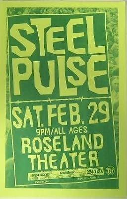 Steel Pulse Roseland Portland Reggae Concert Poster from ConcertPosterArt