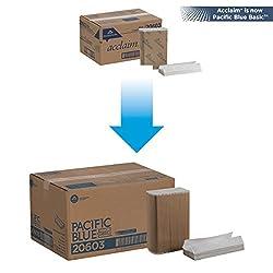 "Acclaim 206-03 13.25"" Length, 10.25"" Width Economy C-Fold Paper Towel"