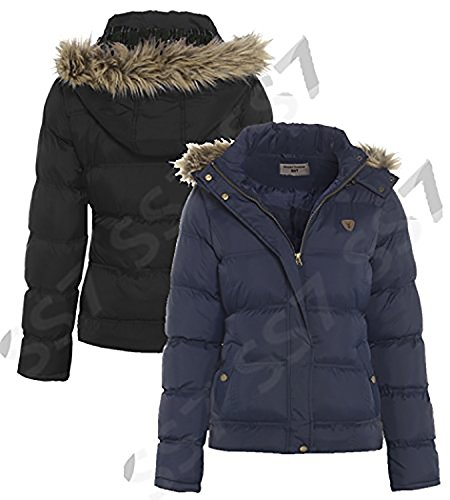 SS7 Black to Padded Coat Navy Women's Navy Sizes 8 Hooded New 16 7qBTUw