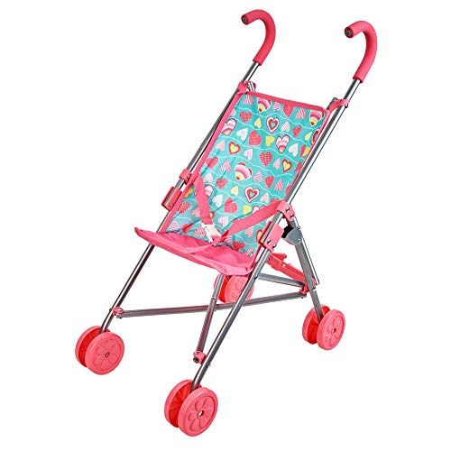 Collapsible Doll Stroller Umbrella for Dolls Up to 18