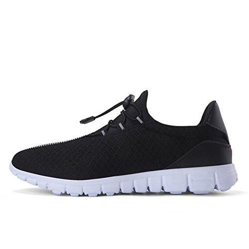 Qansi Heren Sneakers Mush Ultra Lichtgewicht Atletisch Tennis Met Ademende Waterschoenen Klompen Sandalen Zwart