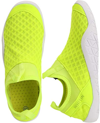 WHITIN Men's Quick Drying Water Shoes for Aqua Hiking Trail Running Sport Minimalist Barefoot Wave Walking Beach Swim Surf Outdoor Kayaking Athletic Male Lime Green Size 11