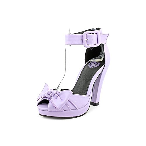T.U.K. Shoes Womens Knotted Bow Lilac Starlet Heel Purple