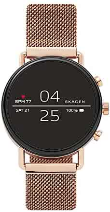 Skagen Connected ' Falster 2' Stainless Steel and Magnetic Mesh Smart Watch, Color:Rose Gold-Toned Model: SKT5103