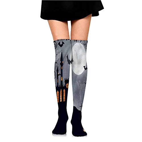 (Comfortable Dropship Vintage Halloween,Scary Bats Ghosts,socks men pack)